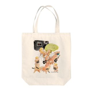 MEAT RUBBER BAND Tote bags