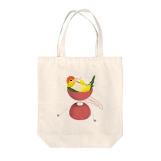 シロハラonディア C Tote bags