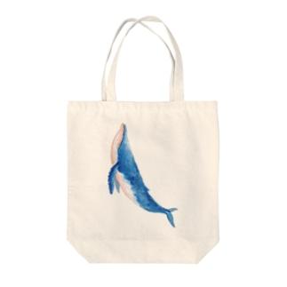 クジラ Tote bags