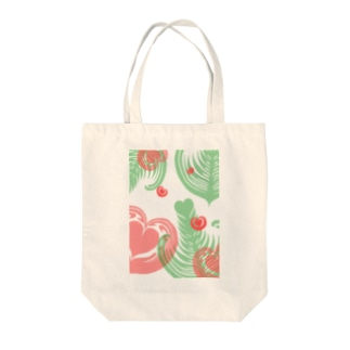【ラテアート】レイヤーラテアート/レッドグリーン Tote bags