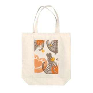 【ラテアート】レイヤーラテアート/オレンジブラウン Tote bags