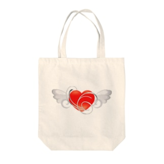 Angel_Heart Tote bags