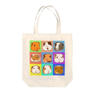 SMILE!モルモット大集合! Tote bags
