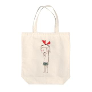リボンちゃん。 Tote bags