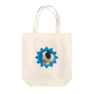 保護うさぎダイちゃんB Tote bags
