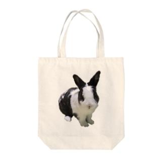 保護うさぎダイちゃんC Tote bags