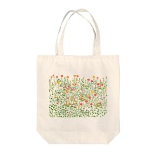 花いっぱい Tote bags