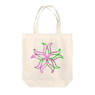 curveFlower Tote bags