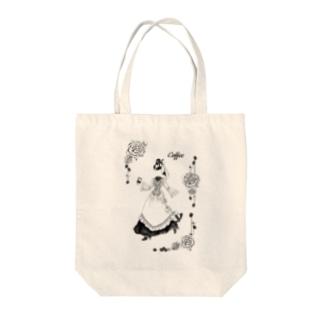 【Lady's sweet coffee】コーヒー Tote bags