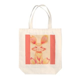TOKOHARU Rabbit❤Mimo Tote bags