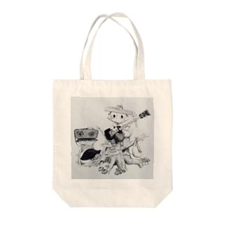 たぬきベーシスト Tote bags