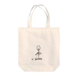 棒人間さん(あみもの) Tote bags
