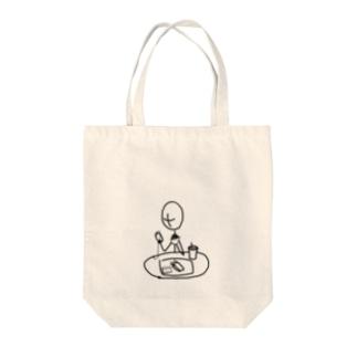 棒人間さん(ファストフード) Tote bags