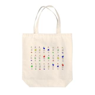 かしげくび Tote bags