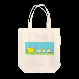 Hello Happy Catのシュポポぴぴぴタクシー Tote bags
