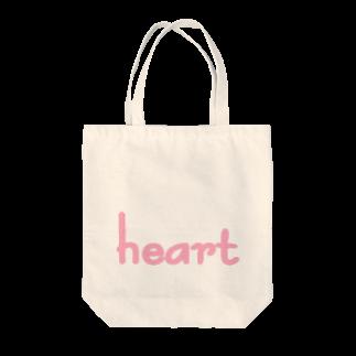 アメリカンベースのハート Tote bags
