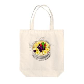 アサイーボウル Tote bags