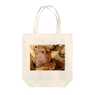 SMOKY CAT Tote bags