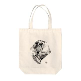 ホウライエソ(モノクロ) Tote bags
