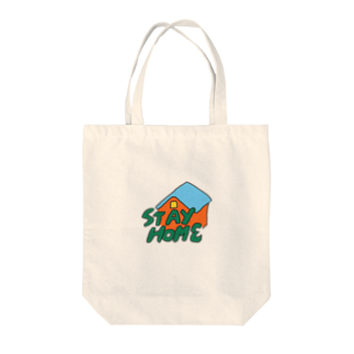 washpopのSTAY HOME Tote bags