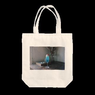 poppophighstarの水色のクリームソーダ Tote bags