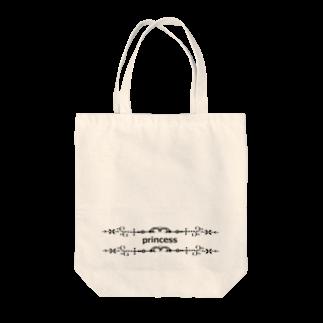 アメリカンベースのprincess プリンセス Tote bags