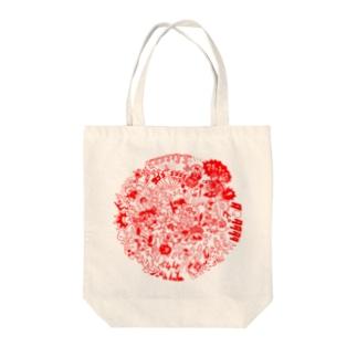 DOKAN_red Tote bags