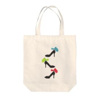 履きたいけど履けないヒール(3色) Tote bags