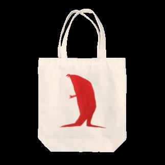 """SHINRI MURAKAMI GOODS MARKETのshinri murakami """" RED DINOSAUR """" Tote bags"""