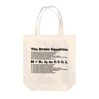 Drake_Equation Tote bags