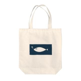 おさかなさん Tote bags