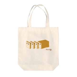 切っても切っても食パンさん Tote bags