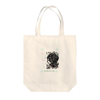 Spring has come green.ver Tote bags