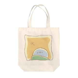 寝起きのぽしぽし Tote bags