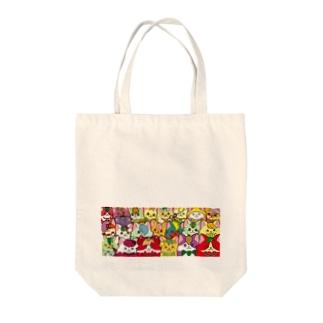フルーツ猫 密集☆ Tote Bag