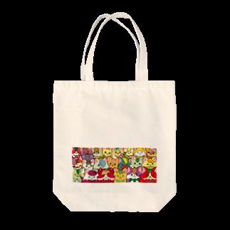 にゃんこグッズ●佐藤家のフルーツ猫 密集☆ Tote bags