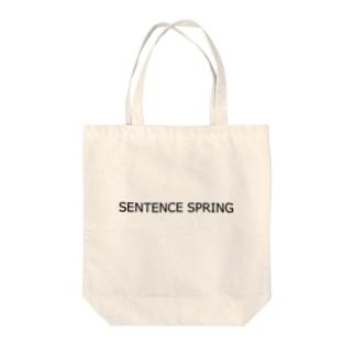 SENTENCE SPRING Tote bags