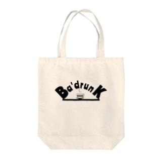 Ba'drunkのBa'drunk newブランドロゴシリーズ Tote bags