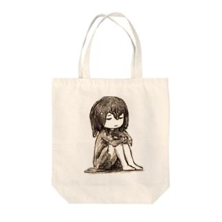 じぐじぐのおすわりん子 Tote bags