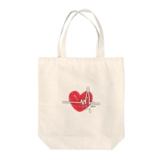 🅨🅤🅚🅘🅜🅔の心電図 Tote bags