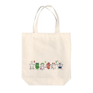 おばけトート<妖怪ラインダンス> Tote bags