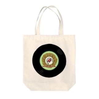レコードの巣のつぼ巣レコード白文鳥 Tote bags