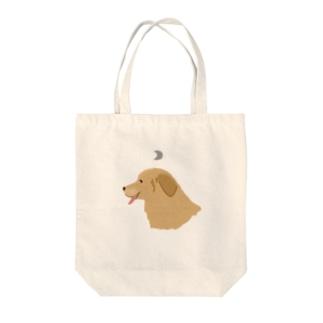 ぺろり犬 Tote bags