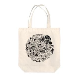 DOKAN_black Tote bags