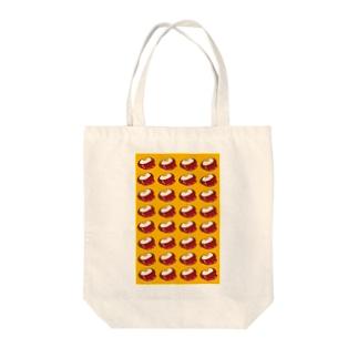 ハンバーグ Tote bags