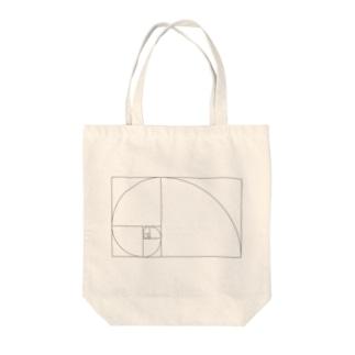 Fibonacci_Blocks Tote bags