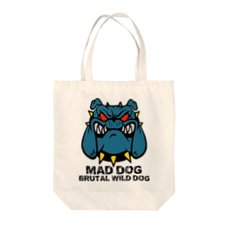 MAD DOG Tote bags
