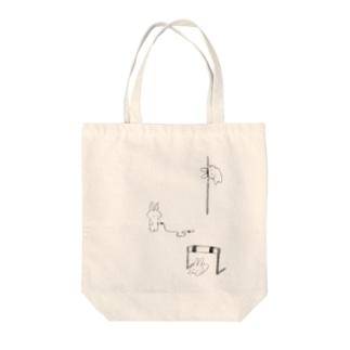 とばない選手権 Tote bags