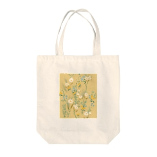 flowers イエロー Tote bags