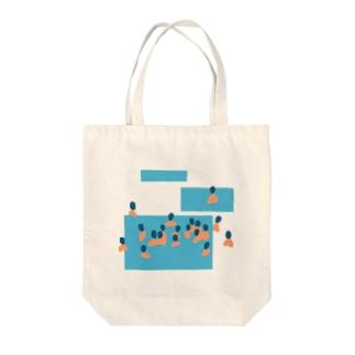 ぷーる Tote bags